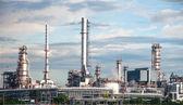 Fabryka rafinerii ropy naftowej w tajlandii — Zdjęcie stockowe