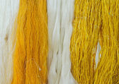 Raw silk thread for background — Stock Photo