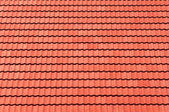 Red tiles roof for background — Stock Photo