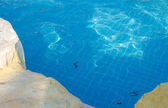 Blue ripped water in swimming pool — Foto Stock