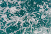 Water splash from back of boat — Stock Photo
