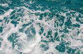 Water splash from back of boat — Fotografia Stock