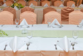 Table set for an event party or dinner — Foto Stock
