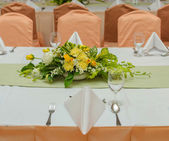 Table set for an event party or dinner — Stockfoto