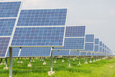 Power plant using renewable solar energy — Stock Photo