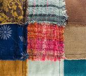 Different colorful fabrics texture — Stockfoto