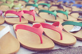 Flip flop sandals retro style — Stock Photo