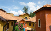 View of typical vintage house with tile roof — Stock Photo