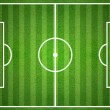 Green soccer field from top view — Stock Photo #48120467