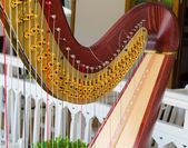 Part of musical instrument called harp — Stock Photo