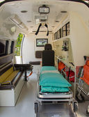 Inside of an ambulance for the hospital — Stock Photo