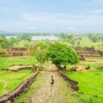 Wat phu castle at champasak southern of laos, UNESCO World Herit — Stock Photo