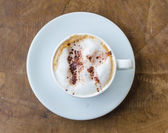 Coffee for breakfast on wood table — Stock Photo