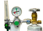 Oxygen Tank and Regulator Gauges  — Stock Photo