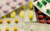 Various pills pile of medicine — Stock Photo