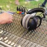 Equipment for sound mixer control — Stock Photo #51711185