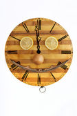 Clock with a funny face — Foto de Stock