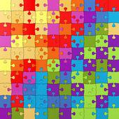 Multicolor puzzle-illustration, stichsäge — Stockfoto