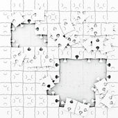 Wall Behind the Puzzle, Jigsaw Illustration — Stock Photo