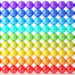Composition of reflection balls isolated over white, matrix-array — Stock Photo