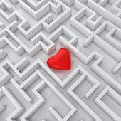 Solitario focolare nel labirinto — Foto Stock