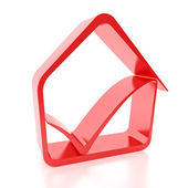 House Icon Treu Sign — Stock Photo