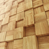 Abstract Wooden Cube background — Stock Photo