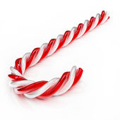 Christmas candy - white and red - Isolated on white. — Stock fotografie
