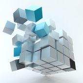 Cube explosion — Photo