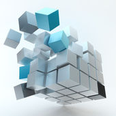 Explosion Cube — Stock Photo
