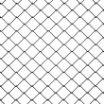 3D-draad hek zwart plastic — Stockfoto #25201215