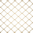 3d Wire Fence Gold — Stock Photo #25201275