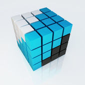 3d cube colorful 4x4 — Stock Photo