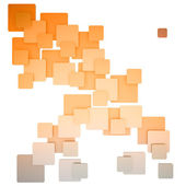 Barevné biege náměstí abstraktní vzor oranžový — Stock fotografie