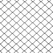 3d Wire Fence Black Plastic — Stock Photo