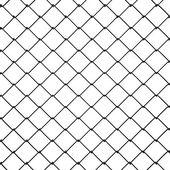 3d Wire Fence Black Plastic — Stock Photo
