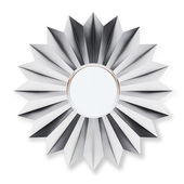 Silver Badge Isolated over background — Stock Photo