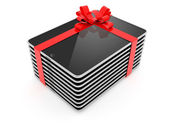 Pack of Computer Tablet Gift Isolated on White Background — Foto Stock