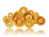 Cloud made of Golden Gears, Mobile Cloud Computing — Foto Stock