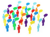Colorful Group of People Talking in The Social Networking — Stock Photo