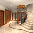 Entrance hall - Stock Photo