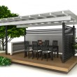 Outdoor kitchen — Foto de Stock