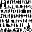 Royalty-Free Stock Vector Image: People silhouettes