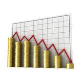 Graph money — Stock Photo
