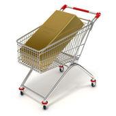 Shopping cart and gold — Foto de Stock