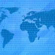 Binary code world map — Stock Photo #25795219