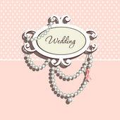 гламурный каракули на приглашение на свадьбу — Cтоковый вектор
