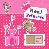 Real Princess scrap template — Stock Vector