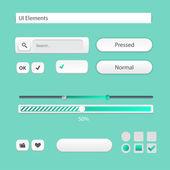 Vector modern user interface elements — Stock Vector