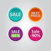вектор этикетки наклейки с продажи сообщений — Cтоковый вектор